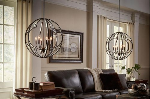 Montavello Collection Montavello 6 Light Chandelier PN