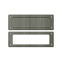 """Mail Slot 8 7/8"""" with Interior Frame - Antique Nickel"""