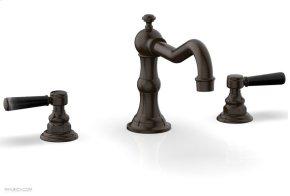HENRI Deck Tub Set - Marble Lever Handles - 161-42 - Antique Bronze