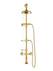 Antique Gold China Lever Exposed Shower Set