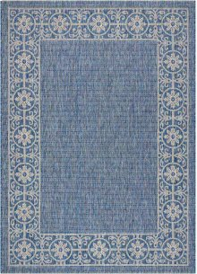 Country Side Ctr03 Denim Rectangle Rug 5'3'' X 7'3''