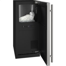 """3 Class 15"""" Nugget Ice Machine With Stainless Solid Finish and Field Reversible Door Swing, Pump Included (115 Volts / 60 Hz)"""