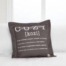 Throw Pillow Cozy Print - Gray
