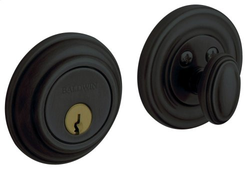 Satin Black Traditional Deadbolt