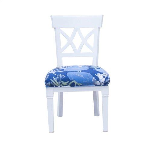 Dining Chair, Available in Black Teak or White Teak Finish.
