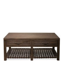 Magnolia Hill Coffee Table Burnished Brown Oak finish