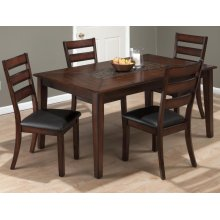 Baroque Brown Dining Table With Mosaic Tile Inlay