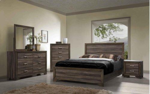 1650 King Panel Bed (Asheville Driftwood)