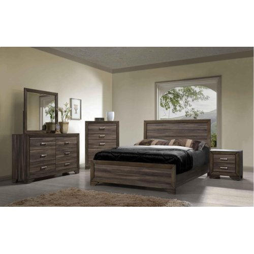 1650 King Panel Bed (Asheville Driftwood)