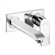 Chrome Metris Wall-Mounted Single-Handle Faucet Trim
