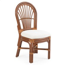 Rattan Dining Side Chair Pecan Glaze 5511