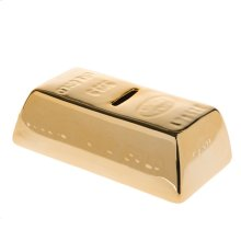Metallic Gold Bar Coin Bank