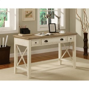 RiversideCoventry Two Tone - Writing Desk - Weathered Driftwood/dover White Finish