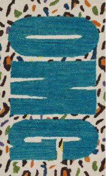 Cheetah / Blue Rug