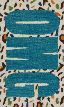 Cheetah / Blue Rug