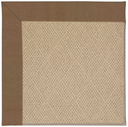 Creative Concepts-Cane Wicker Canvas Cocoa Machine Tufted Rugs