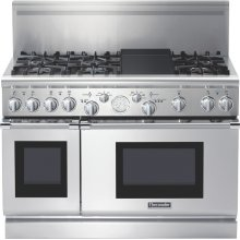 Professional Series 48 inch Gas Commercial-depth Range PRG486EDG - Stainless Steel