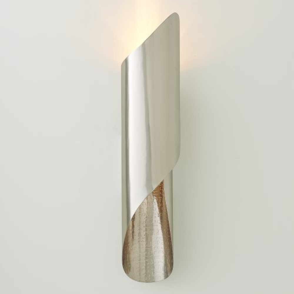 Curl Wall Sconce-Antique Nickel-HW