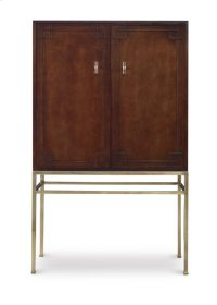 Bar Cabinet With Wood Back Panel Product Image