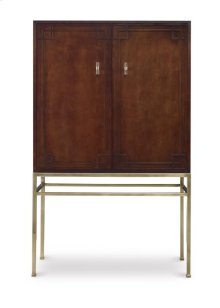 Bar Cabinet With Wood Back Panel