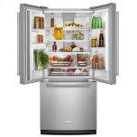Kitchenaid 20 Cu. Ft. 30-Inch Width Standard Depth French Door Refrigerator With Interior Dispense - White