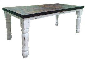 White 6'dining Plain Table
