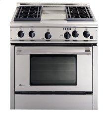 "GE Monogram® 36"" Professional Range with 4 Burners and Griddle (Liquid Propane)"