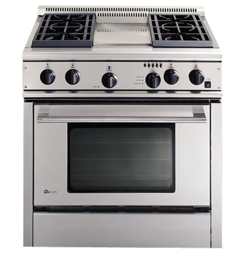 Ge Monogram 36 Professional Range With 4 Burners And Griddle Natural Gas
