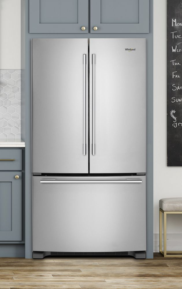 WHIRLPOOL Whirlpool(r) 33 Inch Wide French Door Refrigerator   22 Cu.