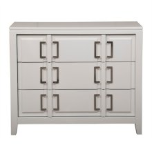 White Geometric Drawer Chest
