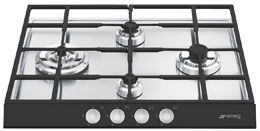 """Gas Cooktop, 60 cm (approx. 24""""), Black"""