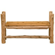Bench with Arms - 48-inch - Natural Cedar