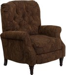 Traditional Tobacco Fabric Tufted Hi-Leg Recliner Product Image