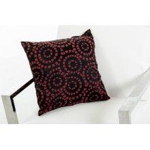 Modrest Orbit Black and Red Throw Pillow