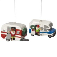 RV and Camper Ornament (2 asstd).