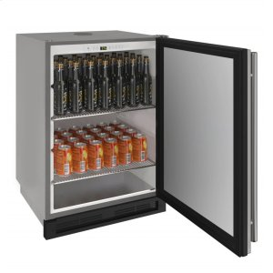 """U-LINE1000 Series 24"""" Outdoor Keg Refrigerator With Stainless Solid Finish and Field Reversible Door Swing (115 Volts / 60 Hz)"""
