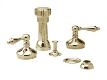Four Hole Bidet Set Lever Handles - Polished Brass