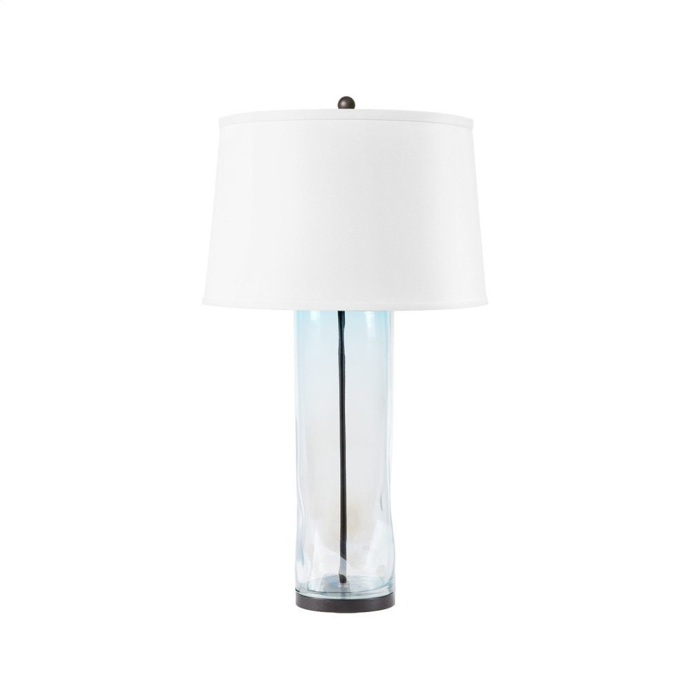 Clay Lamp, Light Blue and Clear