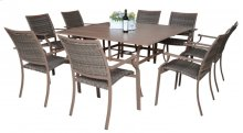 Island Cove 9 PC Slatted Dining Group