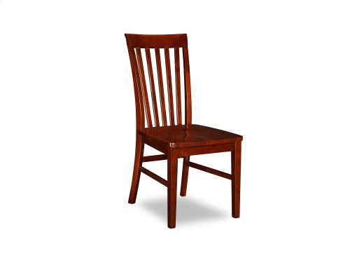 Mission Dining Chairs Set of 2 with Wood Seat in Walnut
