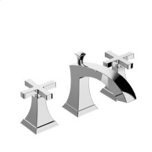 Leyden Widespread Basin Faucet with Cross Handles - Polished Chrome