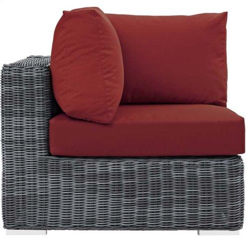 Summon Outdoor Patio Sunbrella® Corner in Canvas Red