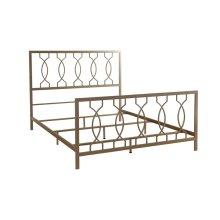 Metal Bed In Elegant Bronze Finish