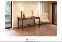 Writing Desk, Parota Wood & Iron Legs*