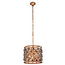 """Madison Collection Chandelier D:14"""" H:13"""" Lt:3 Golden Iron Finish Royal Cut Crystal (Clear)"""