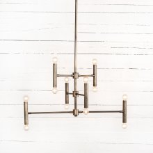 Davina Chandelier-brushed Pewter