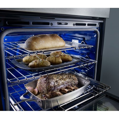 """27"""" Combination Wall Oven with Even-Heat True Convection (lower oven) - Black"""