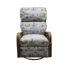 Swivel Recliner Glider, Recliner Arms Available in Antique Palm Finish Only.