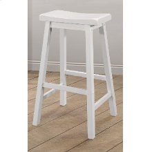 Casual White Counter-height Stool