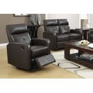 RECLINING CHAIR - SWIVEL GLIDER / BROWN BONDED LEATHER Product Image